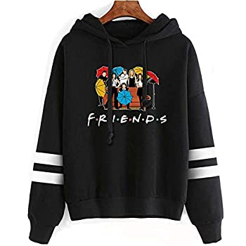 Fashion Friend Sweatshirt Hoodie Friend TV Show Merchandise Women Graphic Hoodies Pullover Funny Hooded Sweater Tops Clothes  Black S