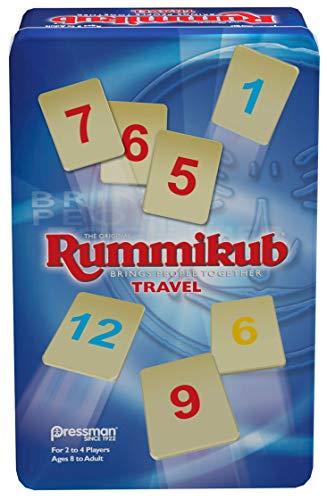 Rummikub in Travel Tin  The Original Rummy Tile Game by Pressman Blue B07GLGBW9X