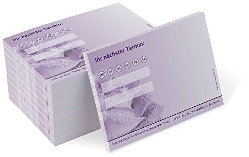 Terminblock Trend (10 Blöcke) je 50 Terminzettel für Nageldesign, Fußpflege, Wellness, Kosmetik