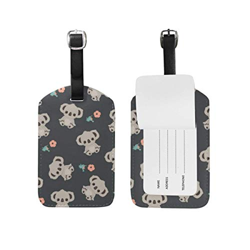 shenguang My Daily Colorful Tie Dye Luggage Tag Travel ID Bag Leather Label for Baggage Suitcase 1 Piece
