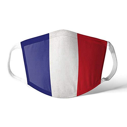 M&schutz Maske Stoffmaske Groß Notleidende Flagge Frankreich/Französisch Wiederverwendbar Waschbar Weiches Baumwollgefühl Polyester Fabrik
