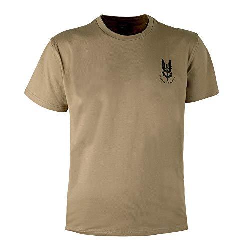 EXCELLENT ELITE SPANKER Reino Unido Ejército SAS Reino Unido Especial Aire Servicio Operaciones Camiseta(Coyote Marrón-S)