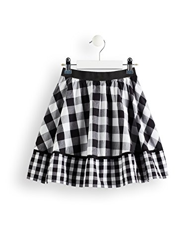 Marca Amazon - RED WAGON Falda de Cuadros Niñas, Multicolor (Black /white), 104, Label:4 Years