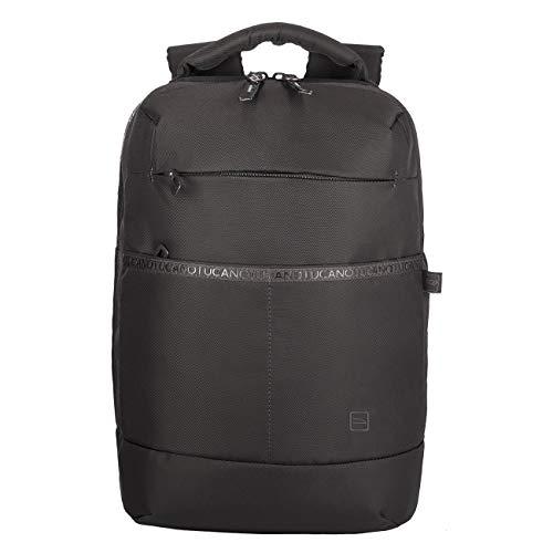 Tucano - Astra Backpack Backpack, Zaino Viaggio Porta Pc Compatibile con MacBook PRO 16  e Laptop 15.6 , in Poliestere Riciclato. Imbottito e Protettivo con Anti Shock System