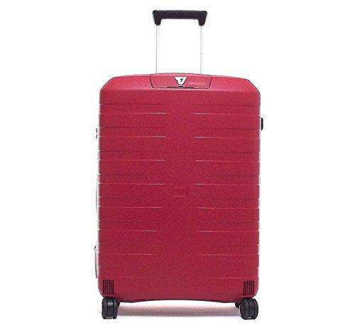 Roncato trolley viaggio, Box 5511-09, trolley valigia grande quattro ruote in polipropilene, colore rosso