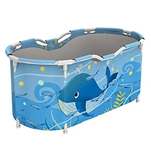 Sits Bañera Plegable, bañera portátil Impermeable para Adultos, niños, Ducha, baño Caliente, baño de Hielo, 120 x 60 x 60 cm (Color : E)