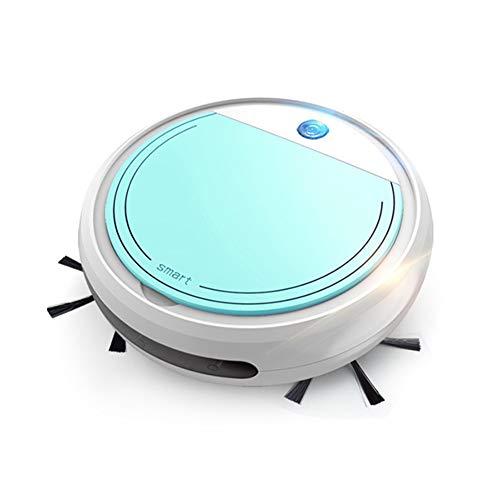 AOUVIK Aspirateur Robot, aspirateur Intelligent à Aspiration 3200pa Aspirateur Automatique de Chargement USB pour Balayage à Domicile et vadrouille Humide,Bleu