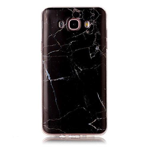 Karomenic Coque de protection ultra fine en silicone TPU souple pour Samsung Galaxy J7 2016 Motif marbre Marbre #12