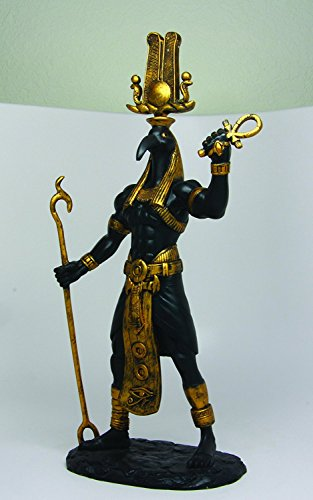 """Ebros Egyptian God Ibis Headed Thoth Holding was and Ankh Statue 12"""" Tall Deity Patron of Magic Technology Knowledge and Riddles"""