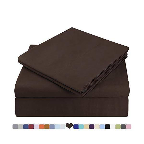 HOMEIDEAS Bed Sheets Set Extra Soft Brushed Microfiber 1800 Bedding Sheets –...