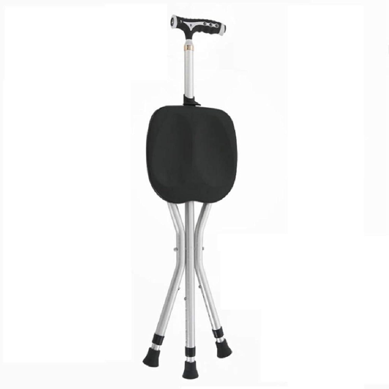 HUYYA 松葉杖シート、アルミ合金滑り止め3フィート調節可能な高さ折りたたみ式耐久性のあるステッキ,black