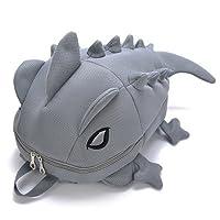 モンスターバッグ カメレオンリュック リュックサック バックパック 面白いバッグ 恐竜バッグ 親子 子供 ベアルック 怪獣 男女兼用 コスプレ L-グレー