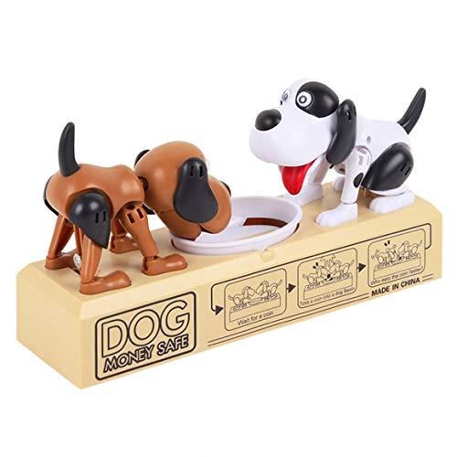 KoelrMsd Caja de Dinero con Monedas electrónicas de Perro robótico de Dibujos Animados Hucha Divertida Caja de Ahorro de depósito automático Regalo de cumpleaños para niños