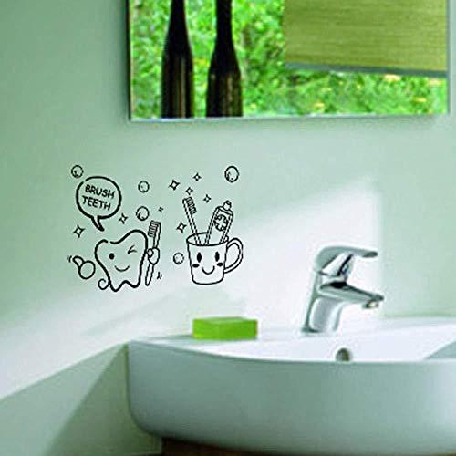 Wandaufkleber neue Zahnbürste Badezimmer Toilettenpapier Großhandel benutzerdefinierte Hintergrund Wand wasserdicht abnehmbar