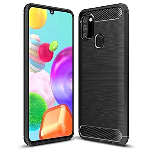 BalOO - Funda de silicona para Samsung Galaxy A21s, protección completa, antiarañazos, antigolpes - Negro