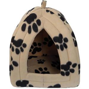 Niche d'hiver pour chiens/chats en forme d'igloo, panier de luxe pour animaux de compagnie