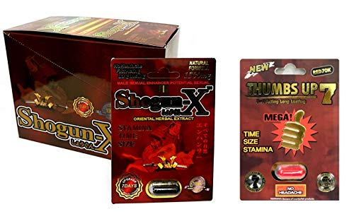 New Shogun X 15000 mg 24 Pills in The Box Thumbs Up Red 1 Pill Best Fast-Acting Male Enhancing Pills