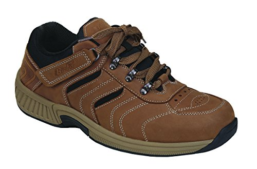 Orthofeet Proven Plantar Fasciitis and Foot Pain Relief. Extended Widths. Best Orthopedic Diabetic Men's Walking Shoes Shreveport Brown