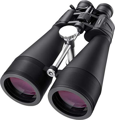 BARSKA Gladiator 20-140x80 Zoom Binoculars (Green Lens) Black