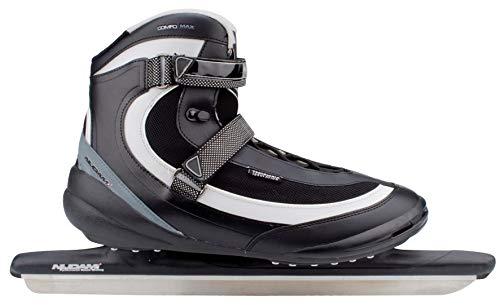 SCHREUDERS SPORT Nijdam Pro-Line PU Soft Boot Speed Skate 56 Black/Grey/Silver