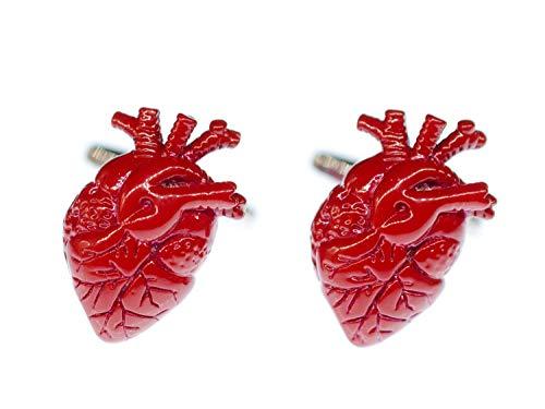 Miniblings Herz Manschettenknöpfe Box Arzt Ärztin Krankenhaus Medizin Organ