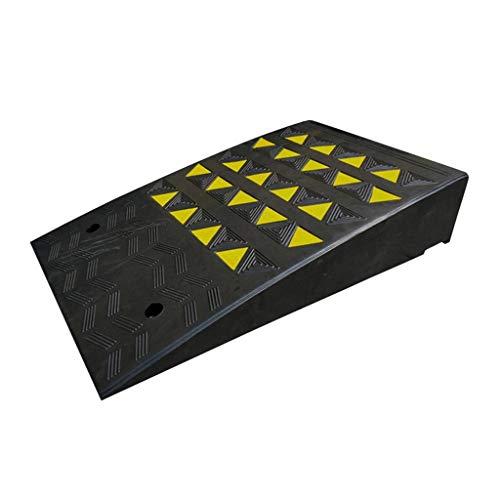 BBGS Schwerlast Gummi-Bordsteinrampen Schwelle Rampe mit Gelbem Reflektierendem Film Laderampen für Rollstuhl Dock Auffahrt Fahrzeuge Lastwagen (尺寸 Size : 50x80x13cm)