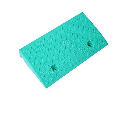 Outdoor Indoor traptreden Slope Mat lossen Hellingen Plastic Trichromatische Ramps/Geschikt for tuin karren en scooters Curb Ramps (Color : Green, Size : 49 * 27 * 13.5cm)