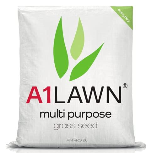 A1 Lawn AM Pro 26 Multi Purpose Grass Seed, 5kg (140m2) - Fast Growing UK Quality, Fresh, Pet &...