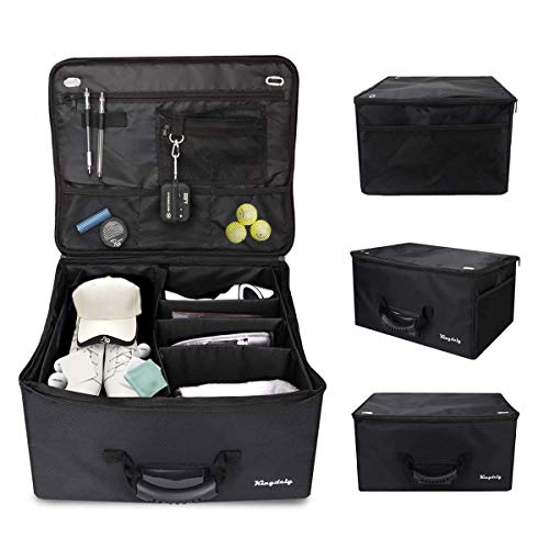 Golf Trunk Organizer Storage, Foldable Travel Car Golf Locker to Store Golf Accessories