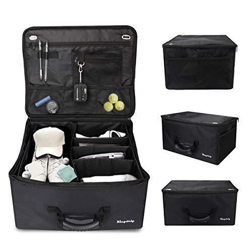 Golf Trunk Organizer Storage, Waterproof Foldable Travel Car Golf Locker to Store Golf Accessories