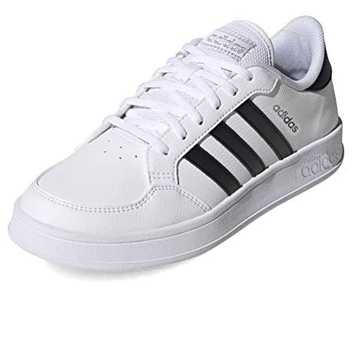 adidas BREAKNET, Zapatillas de Tenis para Mujer, FTWBLA/NEGBÁS/Plamet, 39.33 EU