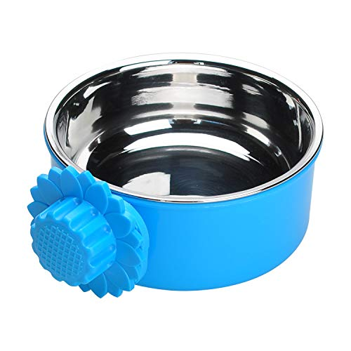 TOP STAR Pet Dog Bowl Removable Stainless Steel for Small Animals,Hanging...