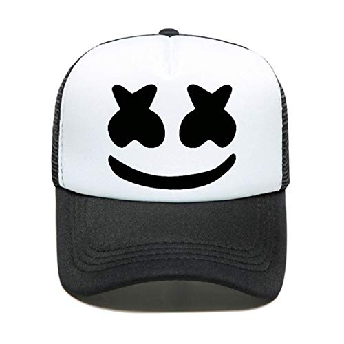 QYWSJ Gorra de Béisbol Marshmallow, Gorra Neta Hip Hop Sport Sombrero de Visera Casual, Adulto de Tamaño Ajustable, Ligero y Transpirable Suave para Hombre Mujer