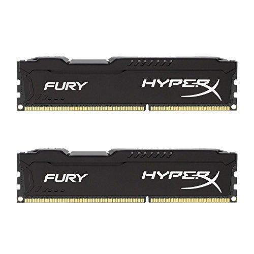 HyperX HX318C10FBK2/16 Fury Schwarz Arbeitsspeicher, DDR3, 16GB (Kit 2X 8GB), 1866MHz, CL10, DIMM