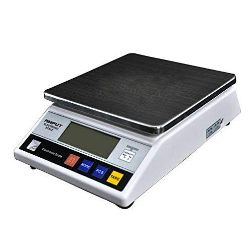 Báscula digital profesional, 7 kg/1 g, báscula de cocina, digital, recargable, pantalla LCD para ingredientes, joyas y café