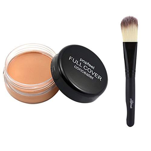 Nourich Palette Correcteur,Imperméable Maquillage de Crème Correcteur de longue durée anti-cernes Haute couvrance concealer lissant anti-poches antirides tous types de cernes Correcteur (03#)