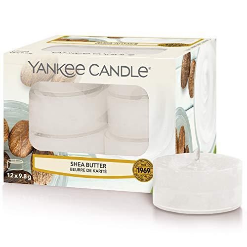 Yankee Candle candeline profumate tea light | Burro di karitè | 12 pezzi
