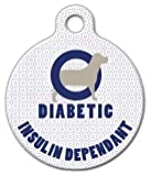 Dog Tag Art Medical-Alert Tag, Custom Pet ID Tags for Dogs and Cats, Personalized Dog Tags with Customized Identification Information - Diabetic Alert Medical - Large