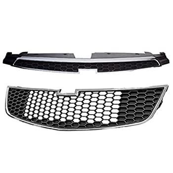 Koolzap For 11-14 Chevy Cruze Front Upper Lower Grill Grille Assembly SET 96981100 95225615