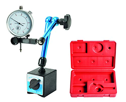 WABECO Magnet-Messstativ mit Messuhr Zentralklemmmung in Kunststoffkoffer Messstativ mit Magnetfuß Messuhrhalter