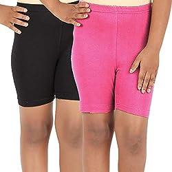 Lula Girls Spandex Shorts -Pack of 2 (CB01020216229310)