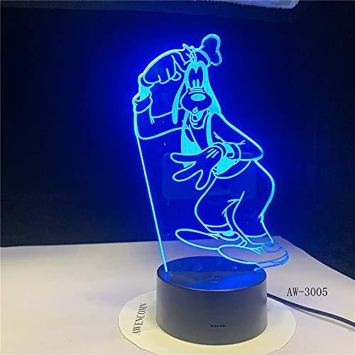 Das Geschenk der Kinder, das Pluto-Hundefarbe ändert Nachtlichttabellenlampenausgangsdekorationspartei fliegt, scherzt Spielzeuggeschenk