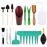 N/U 20 herramientas para plantas suculentas, mini herramientas de trasplante de jardín, herramientas de mano de jardinería para plantas en miniatura, bonsai, suculentas, hierbas