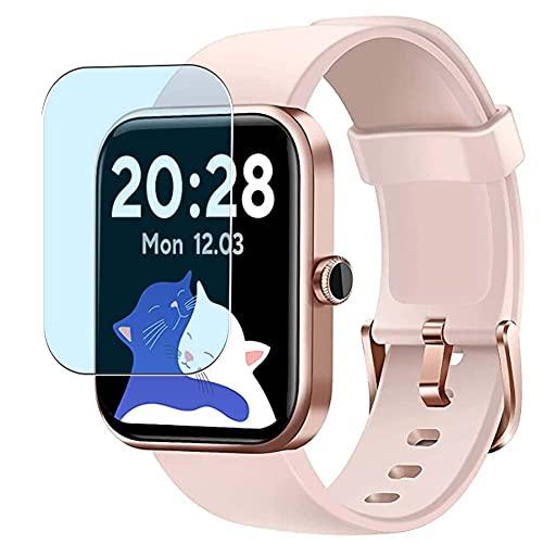 Vaxson 3 Unidades Protector de Pantalla Anti Luz Azul, compatible con CUBOT 206 ID206 1.69' Smart Watch smartwatch [No Vidrio Templado Carcasa Case ] TPU Película Protectora