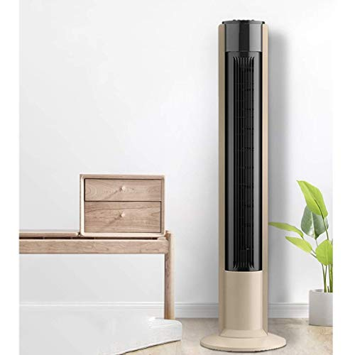 XPfj Air Cooler for Home Office Oscillating Timer Copper Motor Eco Tower Fans, Home Office Cooling Fan 3 Wind Modes Air Conditioner Khaki 105cm