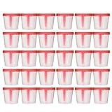 Artibetter 50 Piezas 40 Ml Vaso de Muestra Vaso de Muestra de Plástico Recipiente de Orina Vaso de Muestreo Estéril para Uso Médico de Laboratorio (Color Aleatorio)