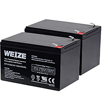 Weize 12 Volt 12AH SLA Rechargeable Battery Replace UB12120 EXP1212 6FM12 LHR12-12 GPS12-12 F2 2 Pack