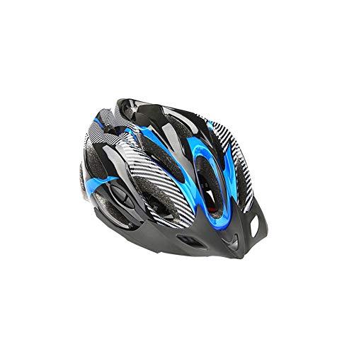 Deporte Headwear Bicicleta De MontañA Casco Ligero Cap Casco De Seguridad Al Aire Libre CóModo De Ciclo del Casco para Deportes Al Aire Libre Azul Negro