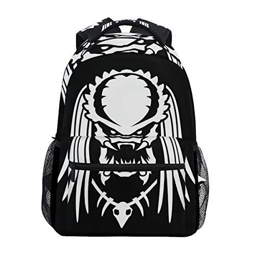 Jojogood Alien Vs Predator Silhouette School Bookbags Shoulder Laptop Daypack College Bag for Student Travel Backpack