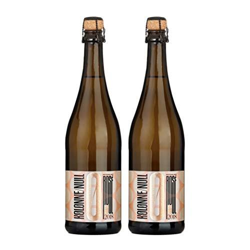 Kolonne Null - Alkoholfreier Sekt (2 x 0,75 L) – Rosé Jahrgang 2018